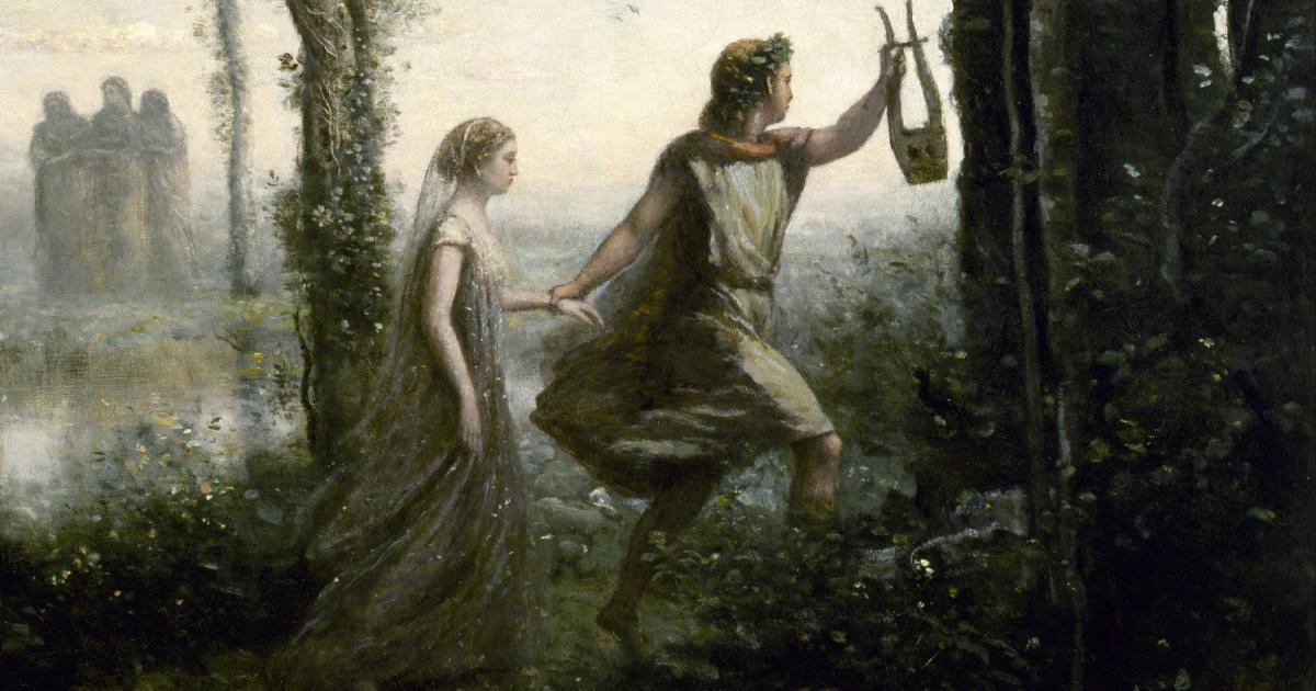 Ο Ορφέας και η Ευριδίκη (λεπτομέρεια από πίνακα του J.B.C. Corot)