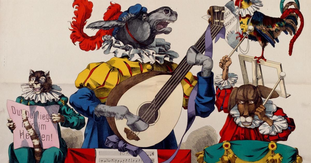 Παραμύθι: Οι μουζικάντηδες της Βρέμης των Αδελφών Γκριμ (Εικόνα F. C. Wentzel)