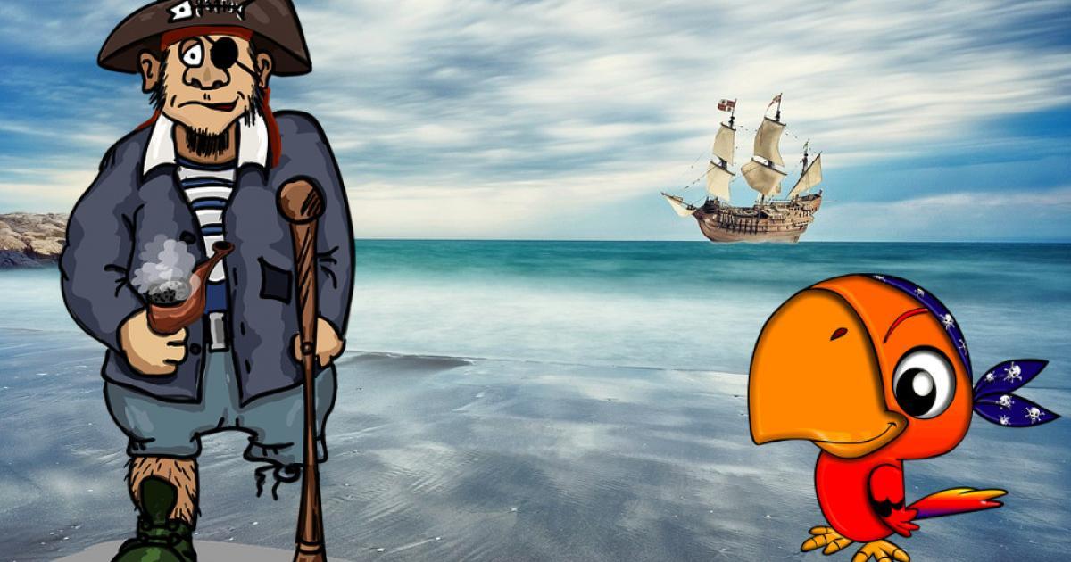 Ο πειρατής Χρυσοδόντης και ο παπαγάλος