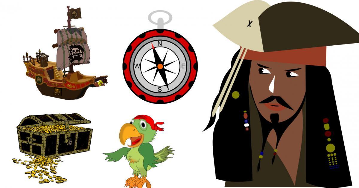 Ο πειρατής και η πυξίδα (Εικόνα: openclipart)