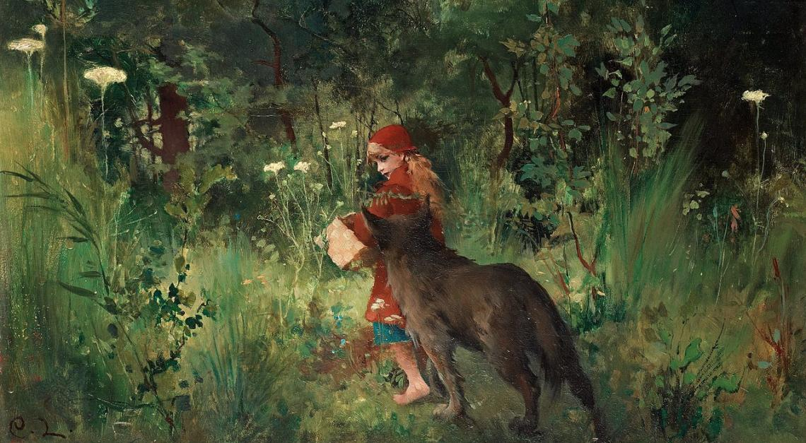 Little Red Riding Hood (1881) by Carl Larsson